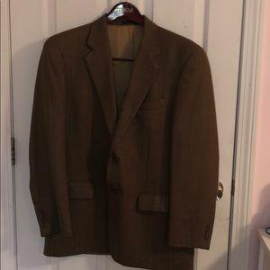 Plaid Light Brown Sports Jacket